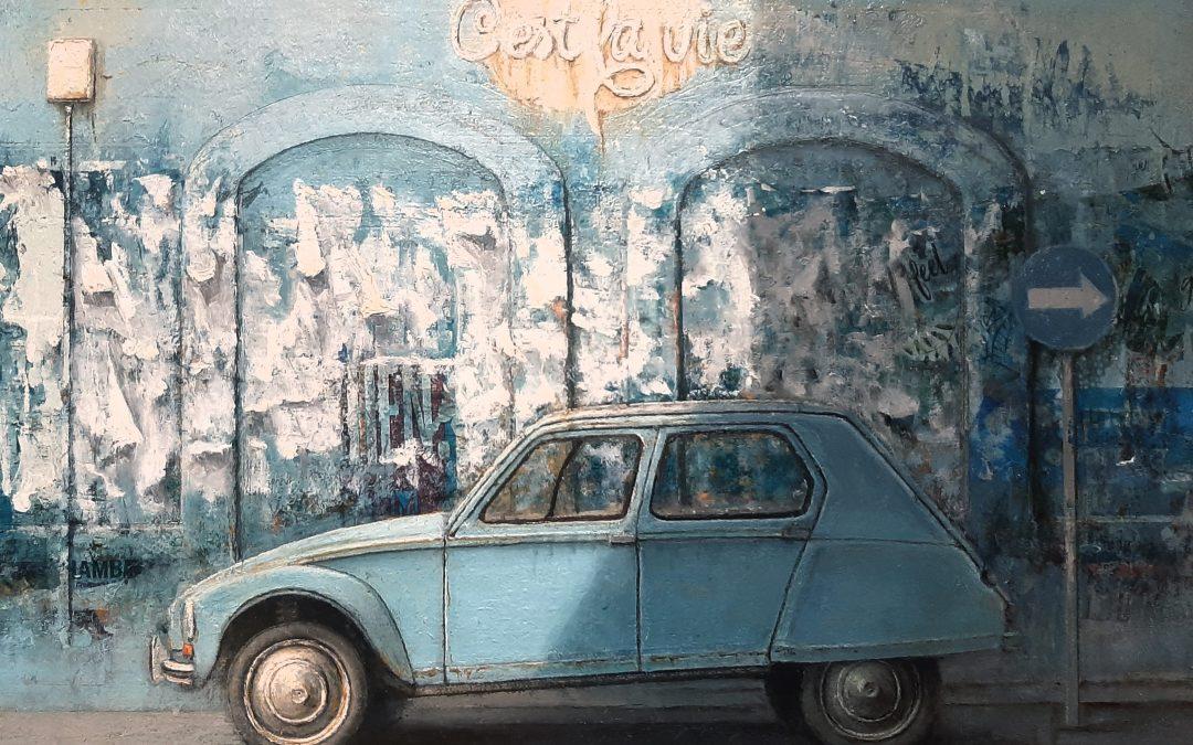 Los azules de la paleta del pintor